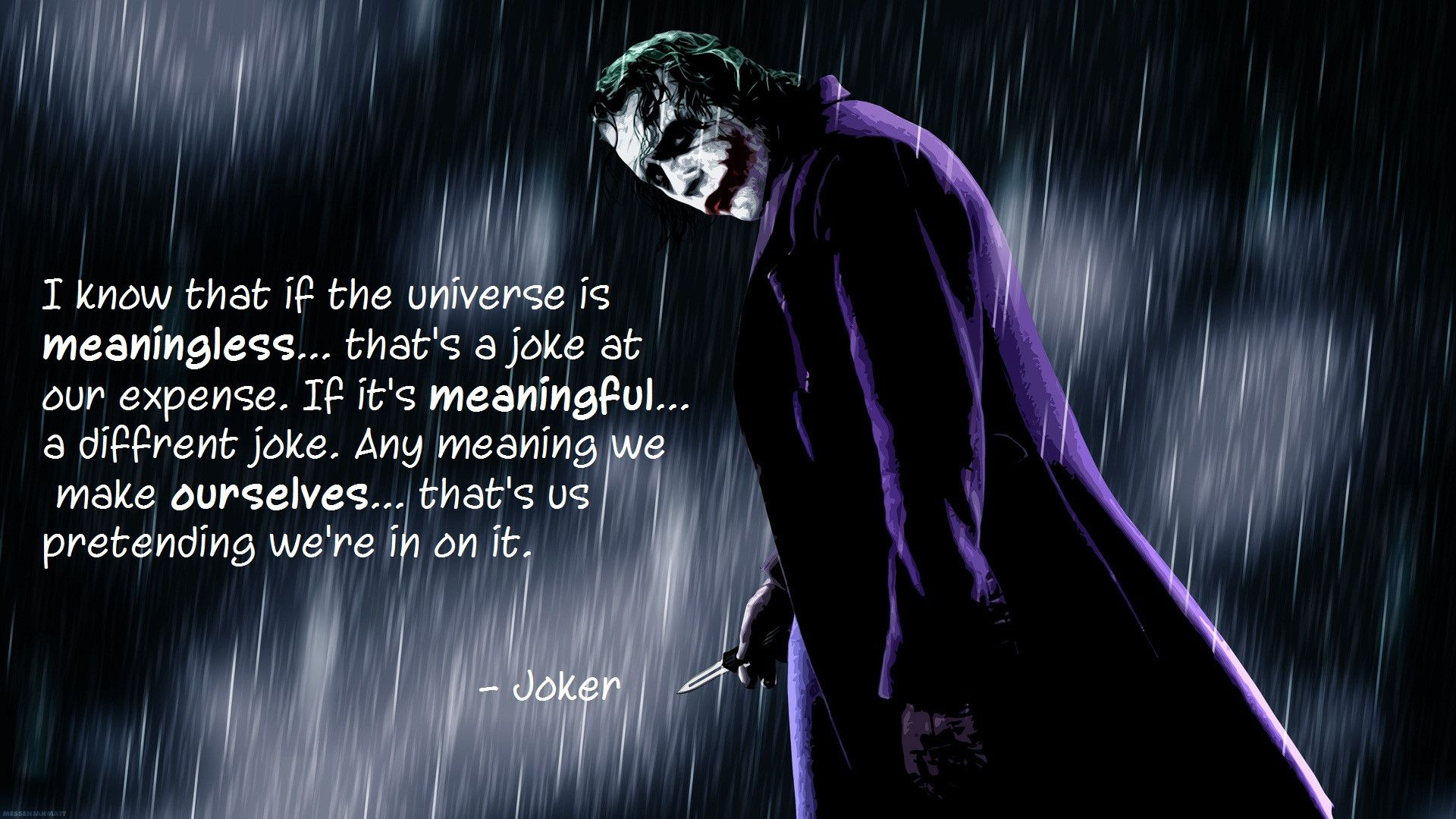The Dark Knight Quotes: My What Big Teeth You