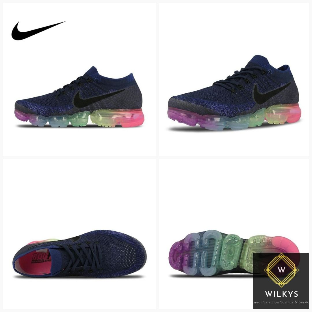 7cc15d593a Original Nike Air VaporMax Be True Flyknit Breathable Men's Running Shoes  Sports New Arrival Official Sneakers Outdoor Rainbow #men #Nike #beauty  #women's ...