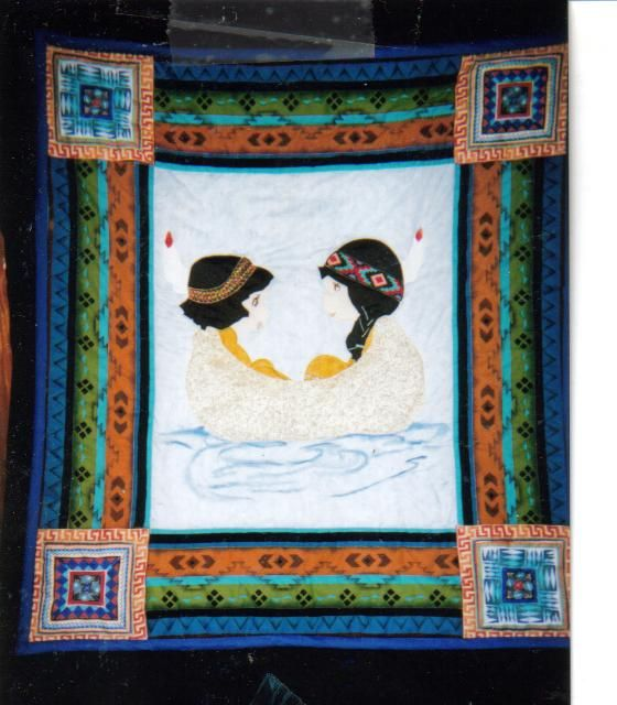 My Indian couples quilt