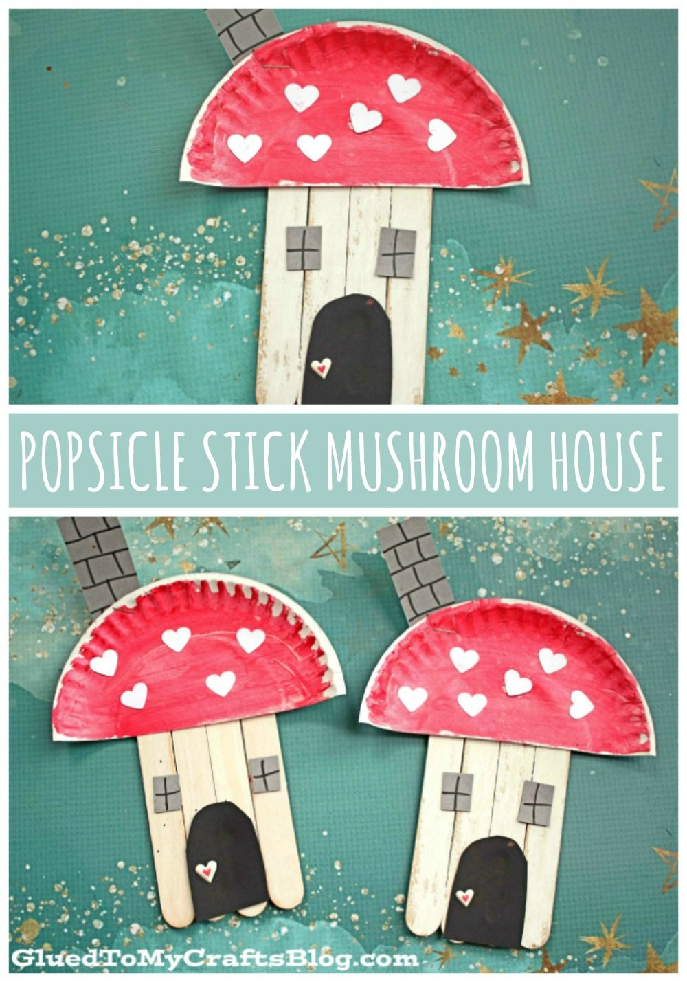 Photo of Popsicle Stick Mushroom Fairy House – Kid Craft