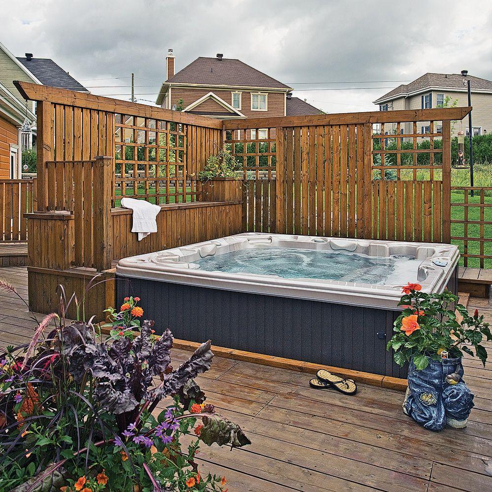 Plans pour cr er un cran pr s d 39 un spa plans et patrons for Plan pour patio exterieur