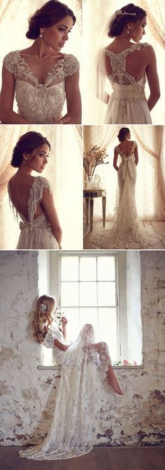 Vintage wedding dresses have a way of making everyone who wears them look like an elegant Goddess. We love it when designers get inspiration from the styles of bygone eras to create something new year after year.