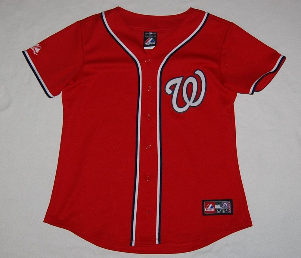 WASHINGTON NATIONALS Womens red MLB Majestic baseball short sleeve jersey MEDIUM    25.00 End 92915b88a