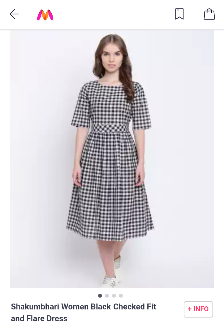 fb80b3a0682b Fit and flare dress #myntra | Dresses | Dresses, Dresses with ...