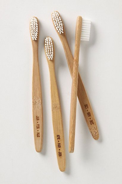 wooden toothbrushes from www.bodieandfou.com