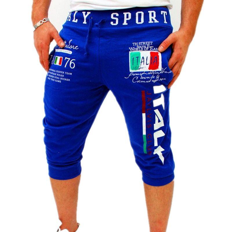 Italia Designer Shorts Men Summer Trousers Elastic Brand Fitness ...
