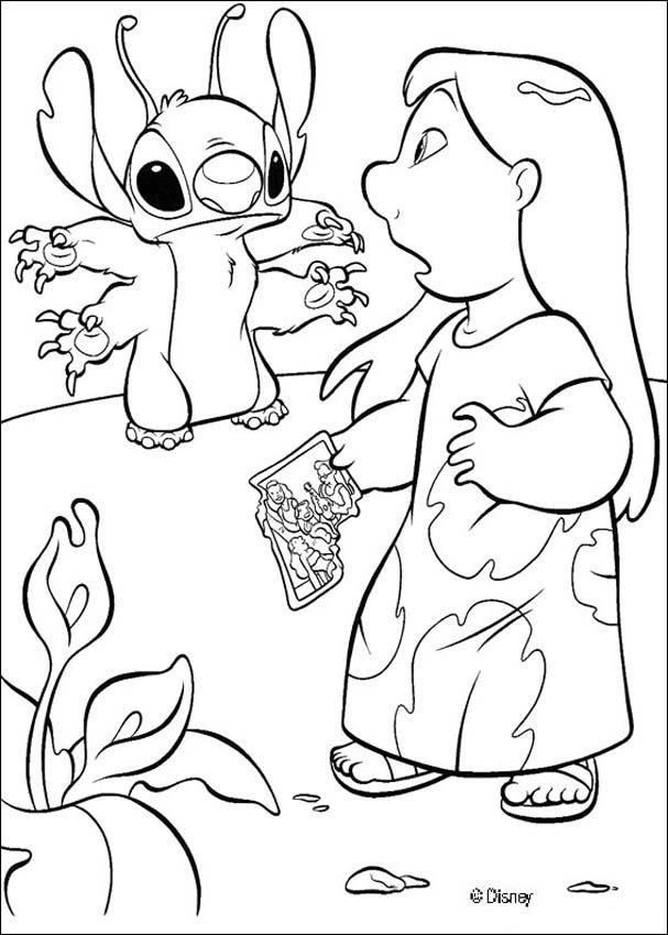 Lilo and the little blue alian Stitch coloring page | DISNEY ...