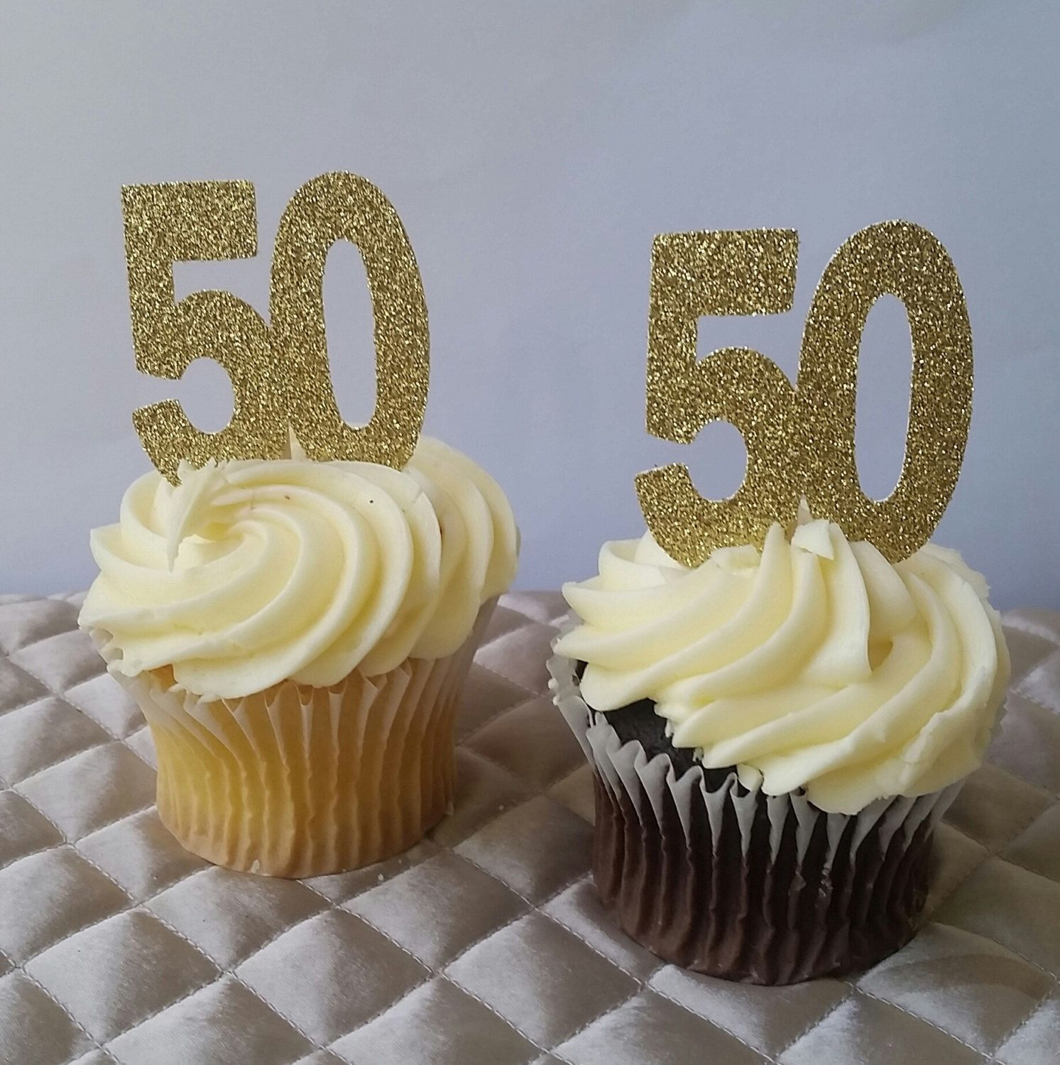 50th Birthday Cupcake Toppers 50 And Fabulous Party Age