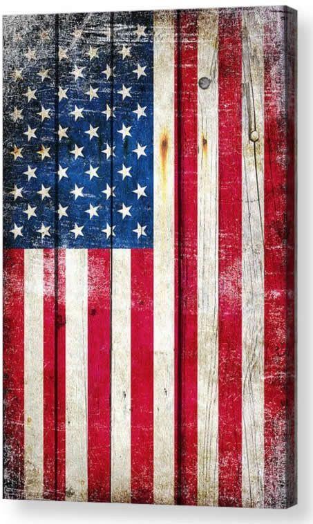 American Flag On Old Barn Wood Vertical Print On Canvas American Flag Wallpaper American Flag Painting American Flag Wood