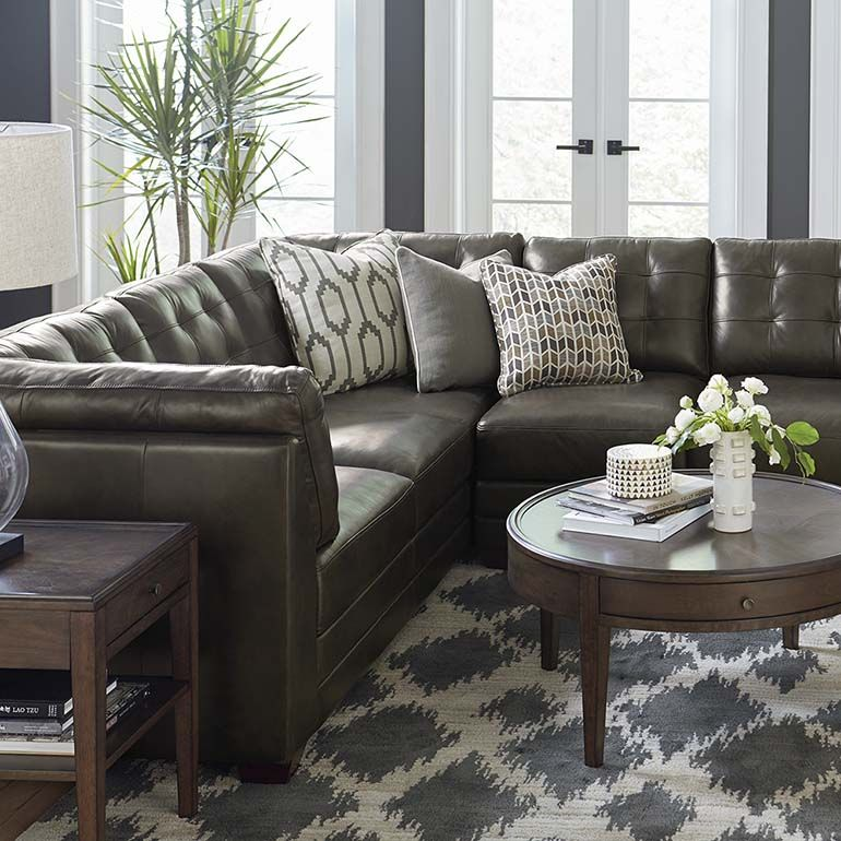 Affinity Small L Shaped Sectional Sectional Sofa Living Room Furniture Leather Sectional Sofas