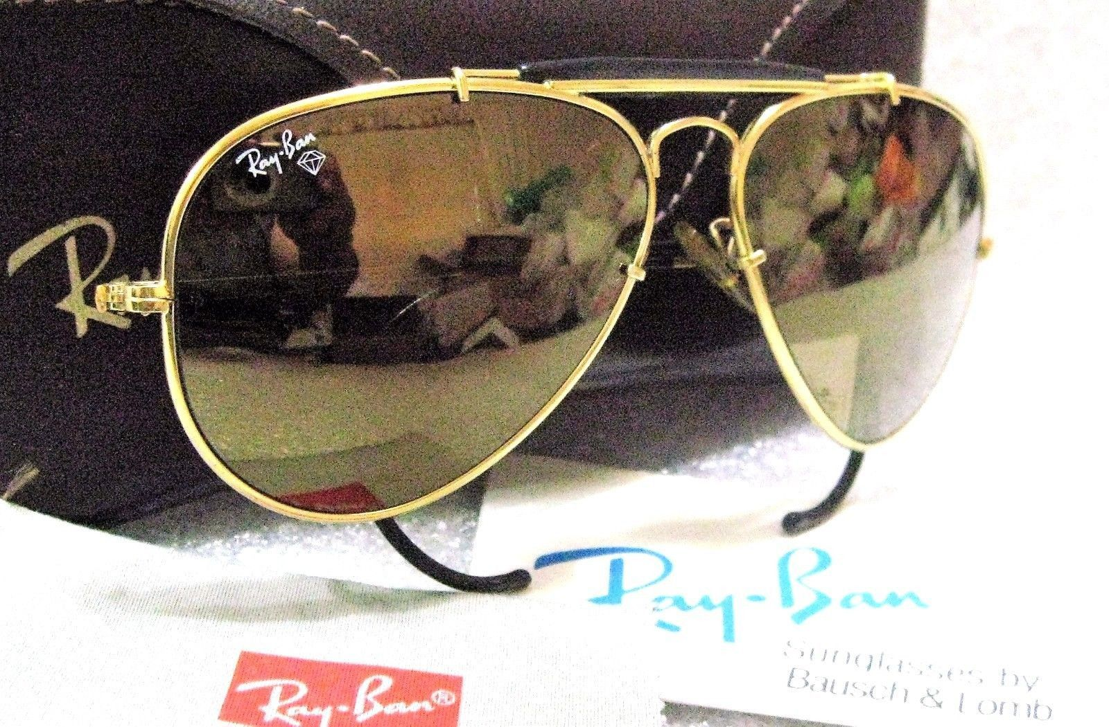 135bc8ff224114 RAY-BAN VINTAGE B L AVIATOR  Diamond Hard Survivor W1506 Nr.MINT  SUNGLASSES CASE