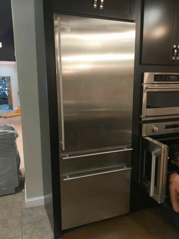 Ge Monogram Zik30gnzii 30 Built In 2 Bottom Freezer Refrigerator In Stainless Ge Modern Bottom Freezer Refrigerator Bottom Freezer Refrigerator