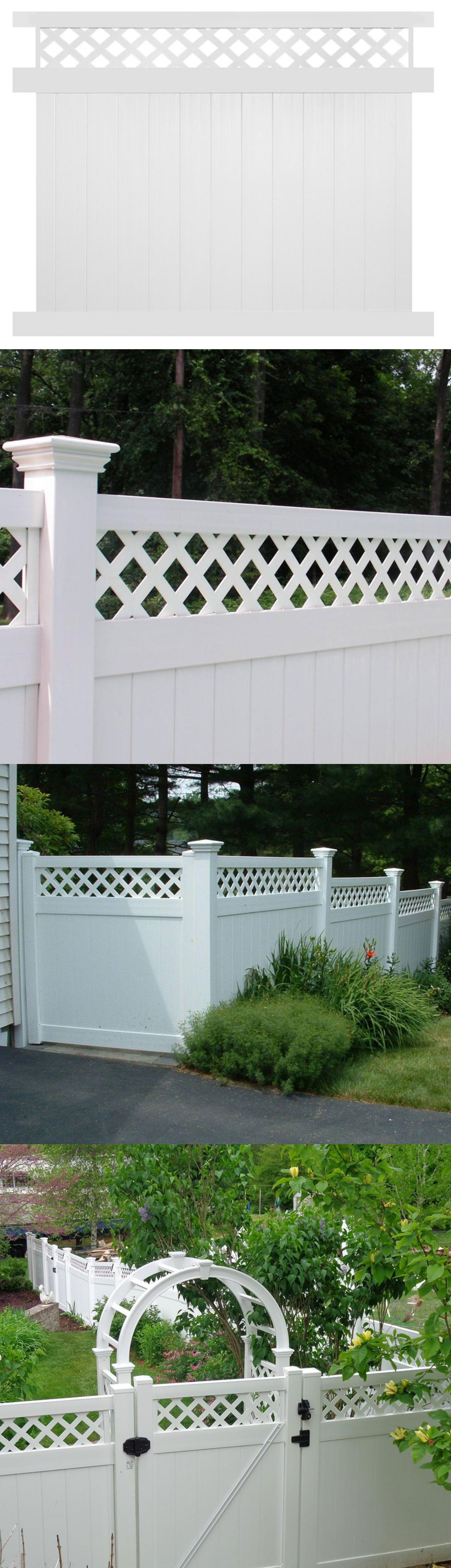 Fence Panels 139946: Vinyl Privacy Fence Panel Kit White 5 X