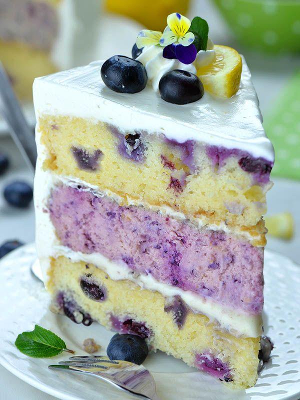 Lemon Blueberry Cheesecake Cake