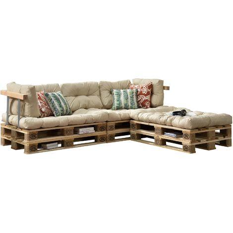 39 euro paletten sofa 39 auflage 3x sitz 5x r ckenkissen verschiedene farben garten. Black Bedroom Furniture Sets. Home Design Ideas