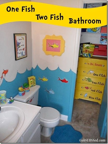 Dr Seuss Inspired Bathroom 1 Fish 2 Fish Dresser In 2019 Fish