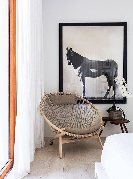 living space design  statement chair  wall art