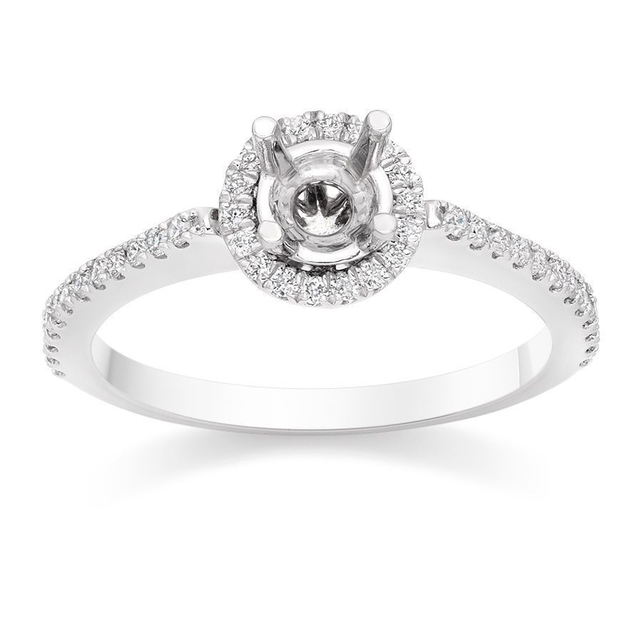 I Love This Vintage Halo Engagement Ring Setting In Platinum On Vashi