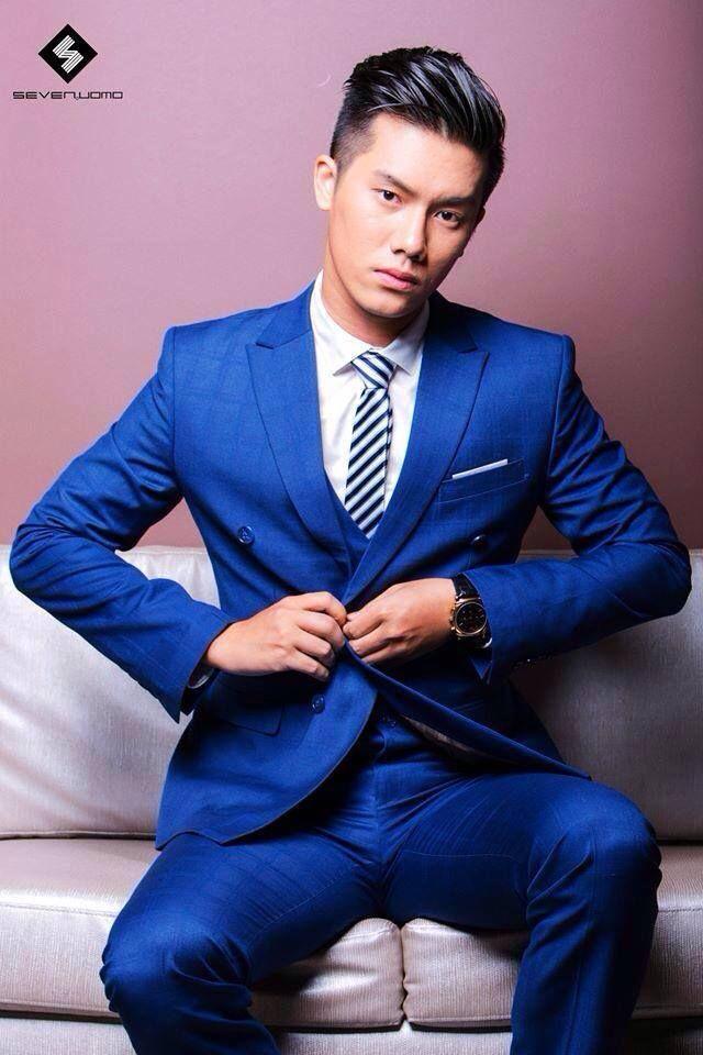 Hot Fitted Blue Suit For Men Suit Fancy Pinterest Asian Men