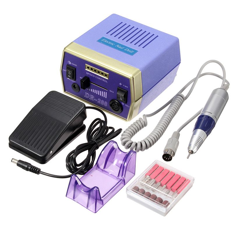 Electric Nail Manicure Set Drill Pedicure Glazing Machine 6 Bits ...