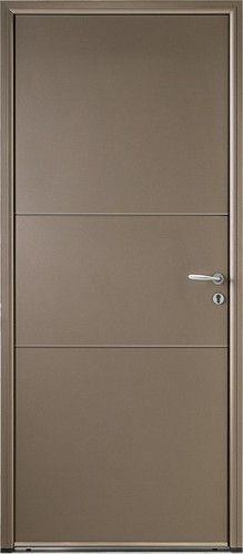 Porte Aluminium, Porte Entree, Belu0027m, Contemporaine, Poignee Rosace Gris  Deco