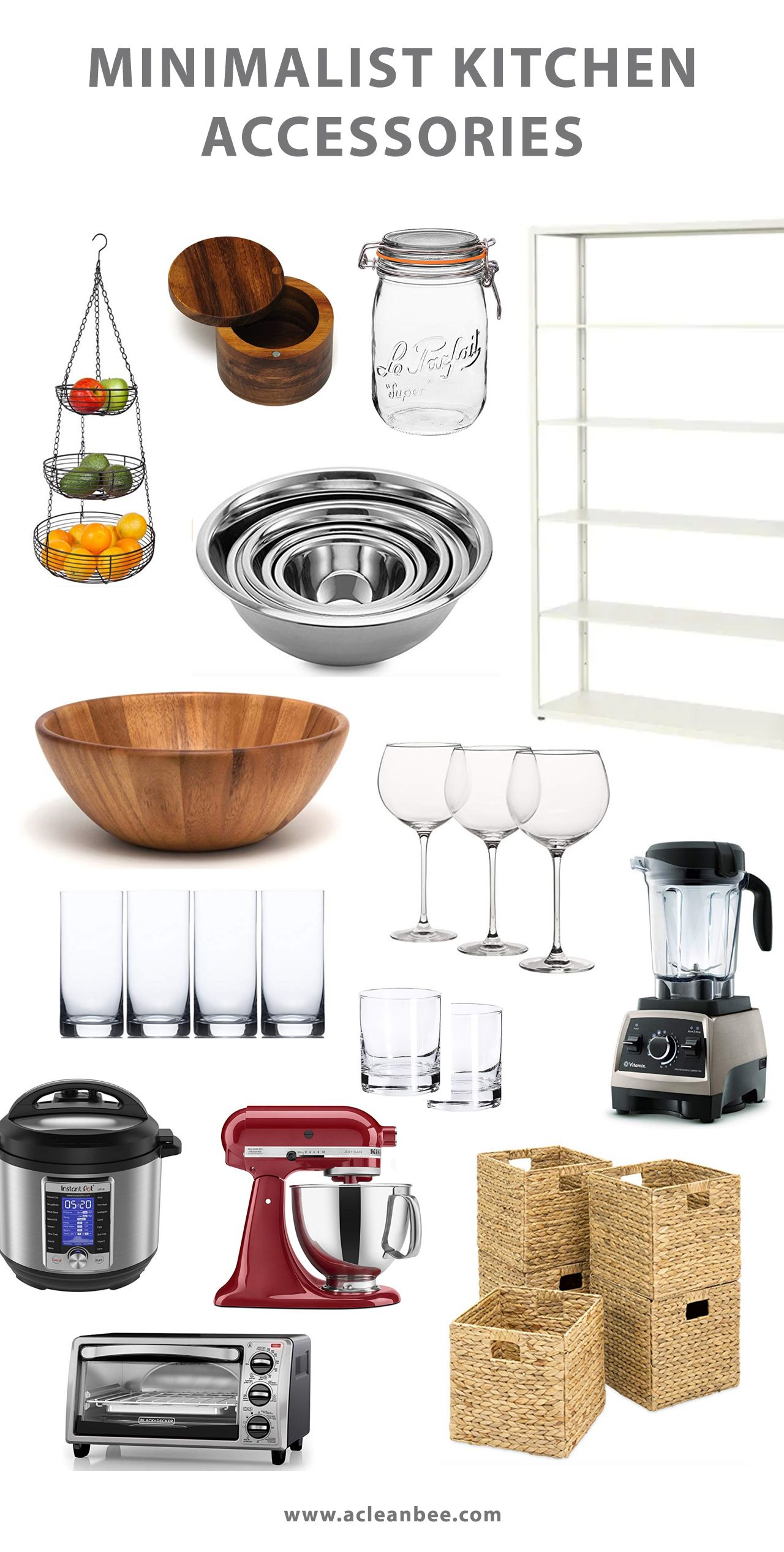 Colorful Kitchen Supplies: Minimalist Kitchen Makeover