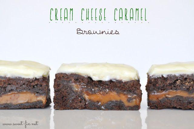 Cream Cheese Caramel Brownies. Oh. my.