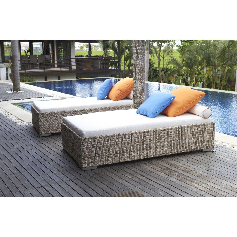 Dann Foley Bwood Chaise Lounge With Cushion