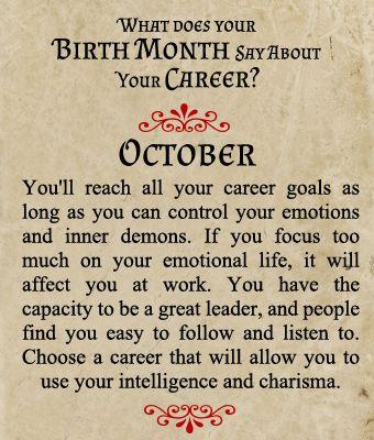 Birthmonth-Career You reach all your career goals as long ...