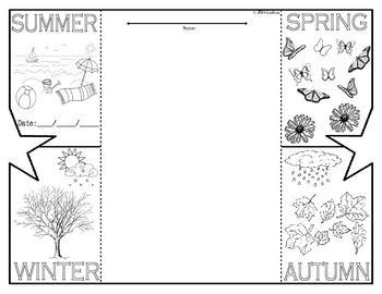 This seasons foldable graphic organizer is great for