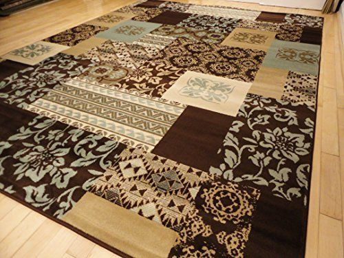 premium 5x8 carpet brown beige blue tan cream modern rugs for living room 5x7 area - 5x8 Rugs