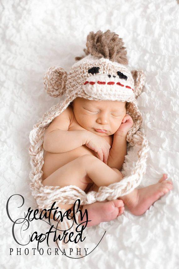 CROCHET PATTERN Crochet Sock Monkey Hat by PrettyDarnAdorable ...