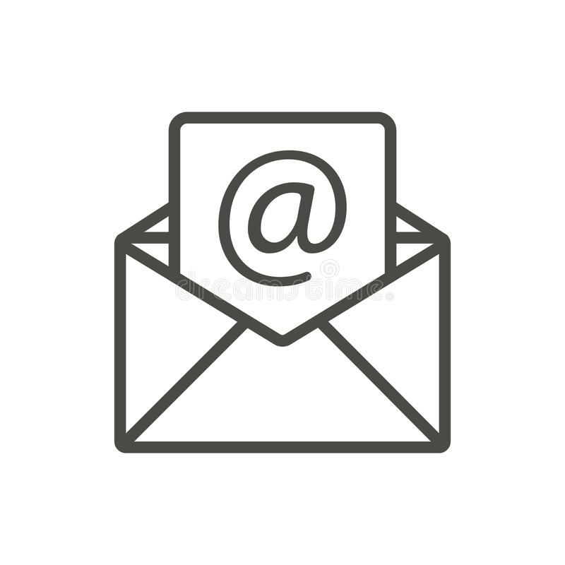 Email message icon vector. Line open mail symbol. Web icon , #spon, #icon,  #vector, #Email, #message, #Line #ad | Symbols, Mail icon, Location icon