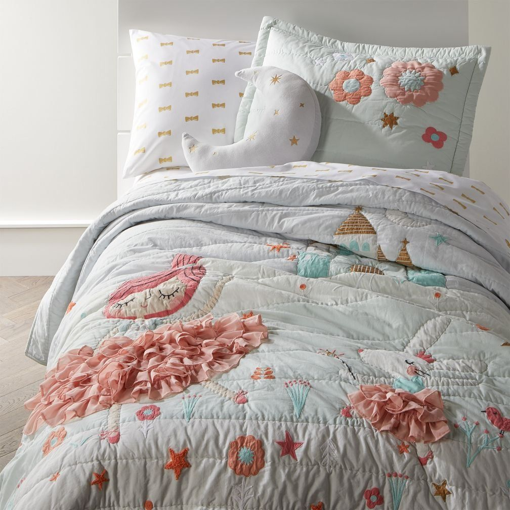 Shop Ballerina Bedding.  Our Ballerina Bedding is ready to dance and twirl into the nearest kids room.  The dreamy quilt features princess and bunny ballerinas, plus an enchanting castle in the background.