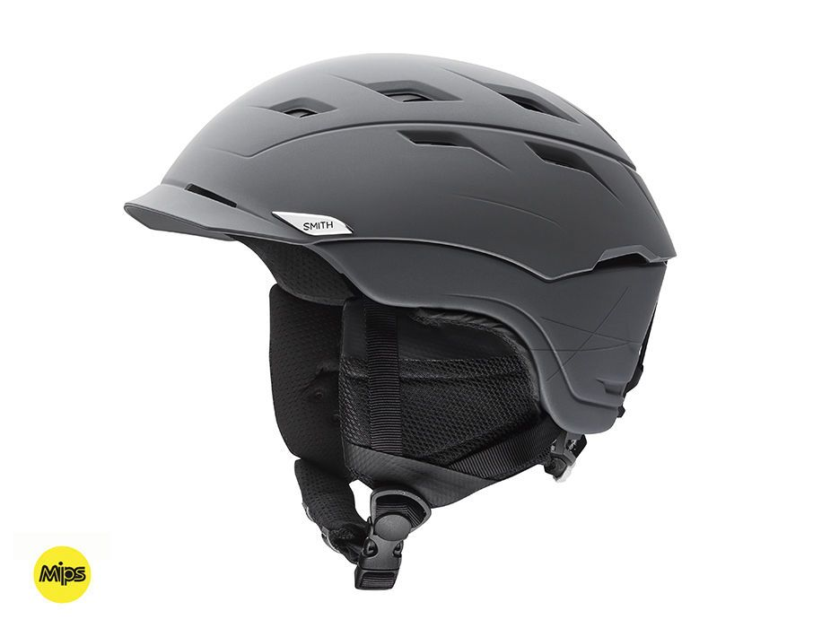 Smith Variance ski helmet (with MIPS); size small, color Matte Charcoal MIPS ($220)