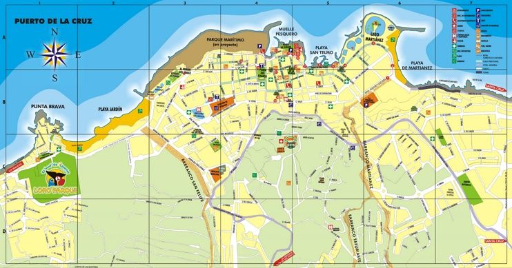 Puerto de la Cruz tourist map Maps Pinterest