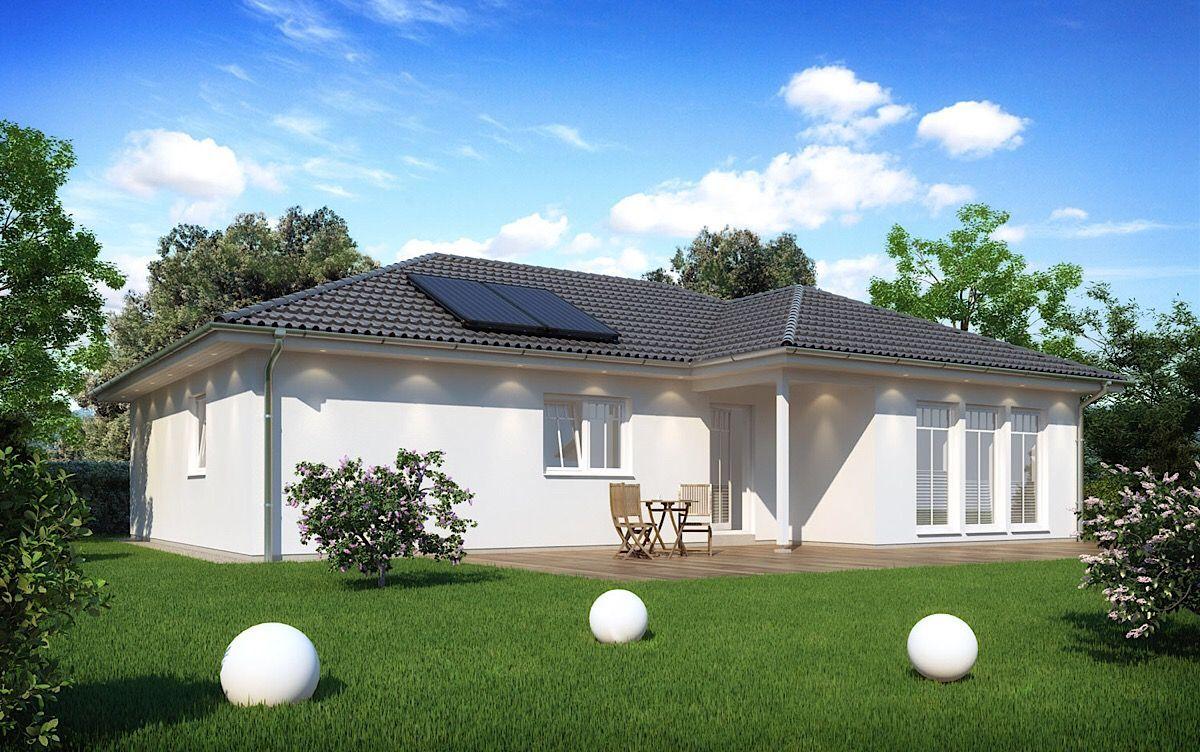 Winkelbungalow mit Walmdach Architektur im modernen
