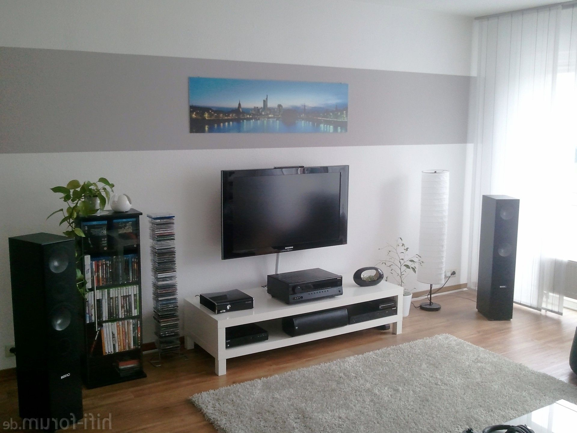 Groses Wohnzimmer   Lautsprecher Grosses Wohnzimmer In 2018 Wohnzimmer Wandgestaltung