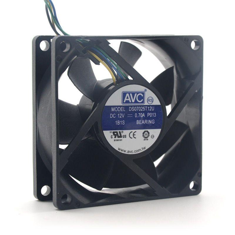 Avc Ds07025t12u 70mm 7025 Dc 12v 0 7a 4 Pin Pwm Cpu Pc Case