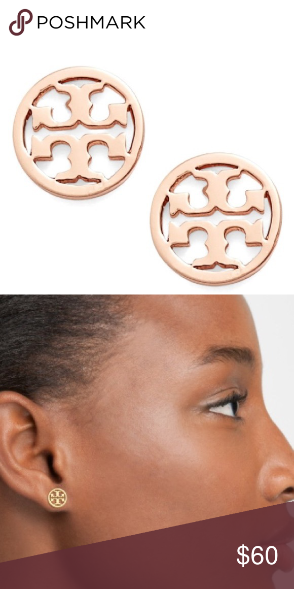 Tory Burch Circle Logo Stud Earrings The Iconic Butch Sits In Delicate