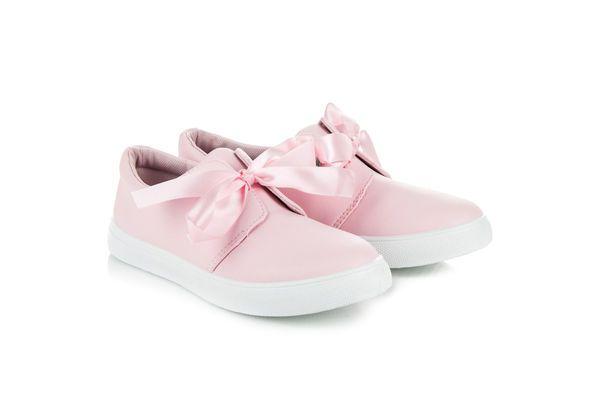 New Tlck Damskie Trampki Ze Wstazka Rozowe Bow Sneakers Sneakers Puma Sneaker