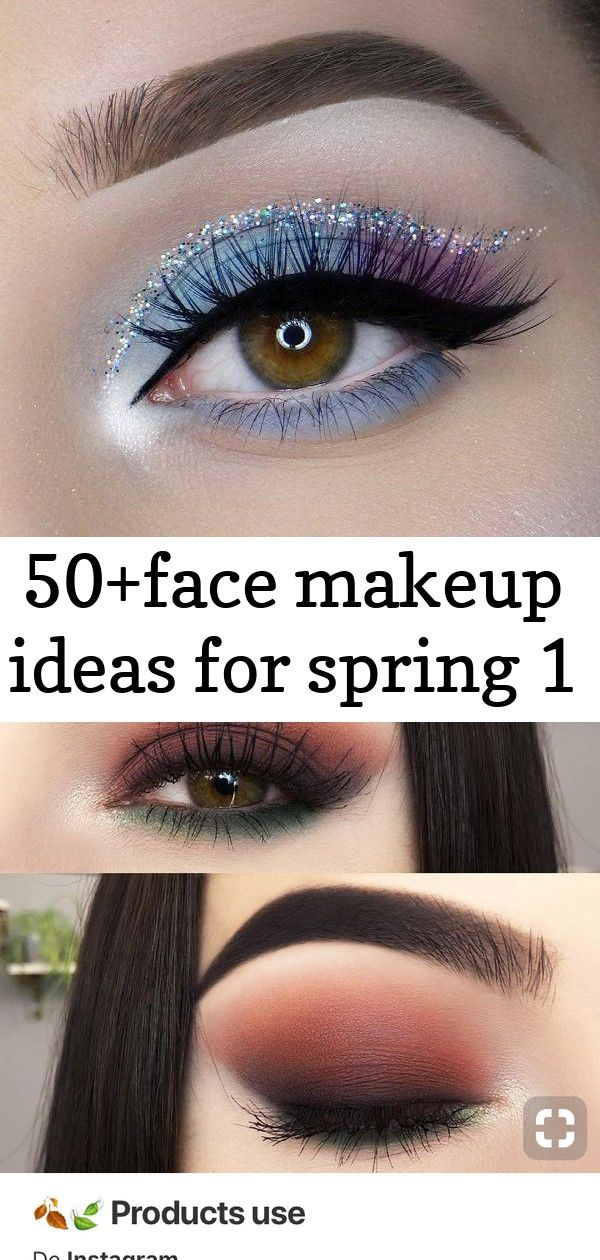 50+face makeup ideas for spring 1 #glittereyeliner