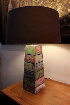 Pyramid Reclaimed Table Lamp