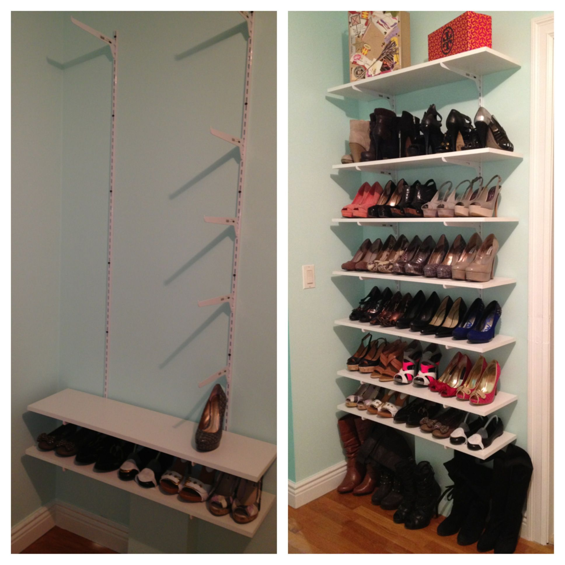 Walking Shoe Closet DIY Closets and shoe organization