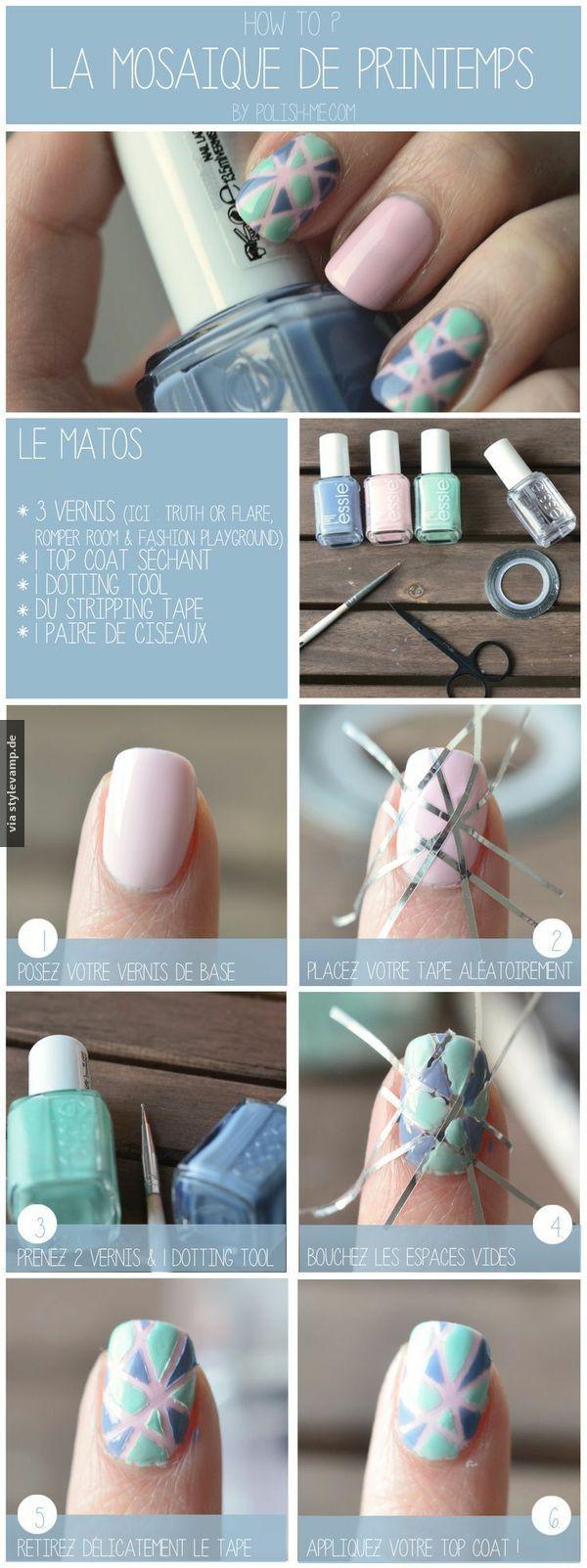 Mosaik Nägel   DIY Nail Art   Pinterest   Beauty trends, Nail nail ...