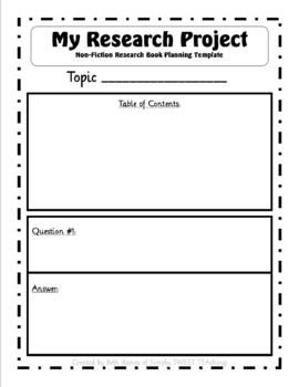 non fiction research project q a book template core ready