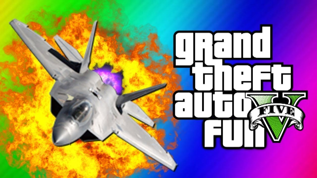 Gta 5 Funny Moments 5 Fighter Jet Fun Tank Glitch Statue