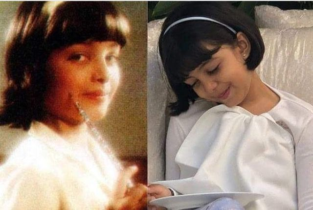 Aishwarya and her daughter Aaradhya Bachchan looking alike ...