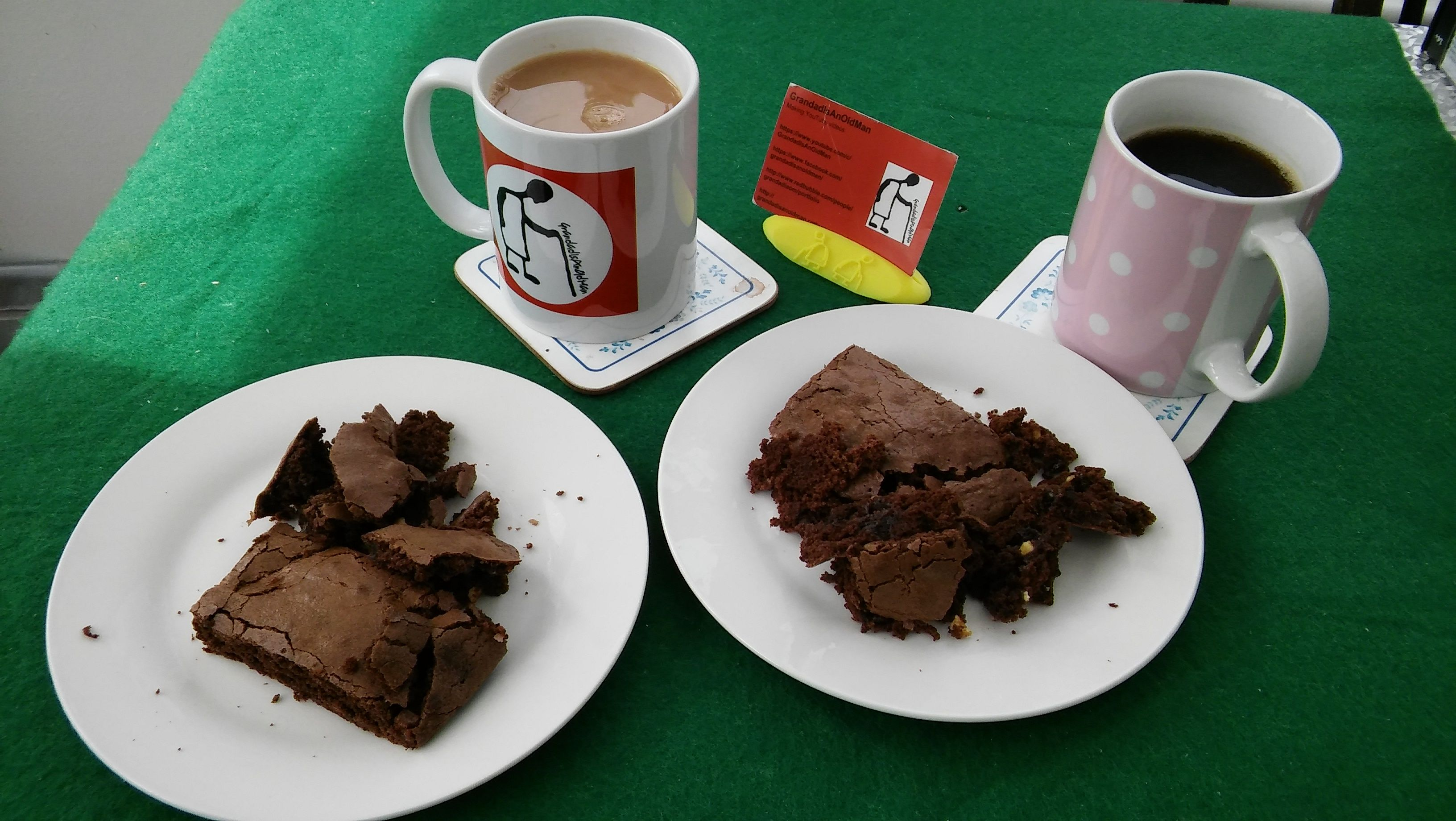 #StayAtHome #grandadisanoldman #grandad #grandadiaom #GIAOM #Tea #Coffee #ChocolateBrownies