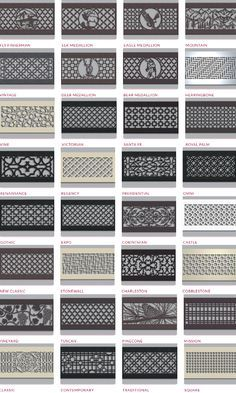 Decorative Air Vents Steel Crest Syles Return Air Grill Wall Vent Covers Wall Vents